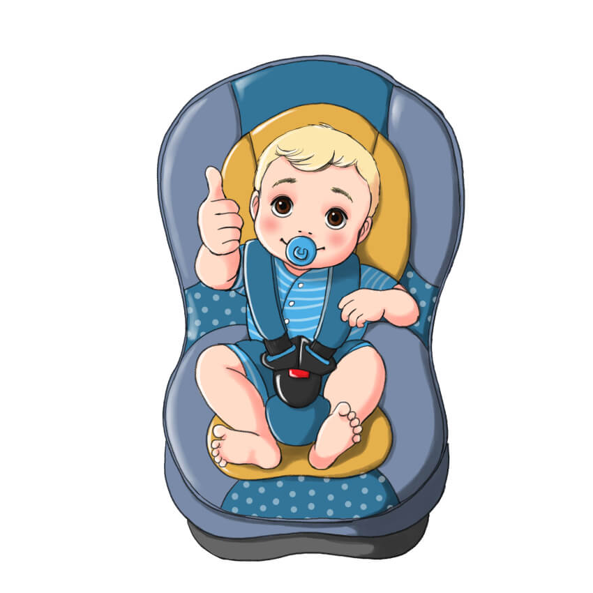 תינוק בכסא רכב